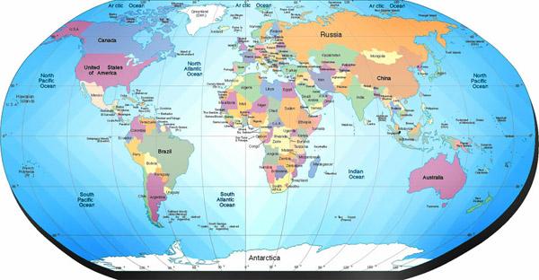 Карта мира для школы иностранных языков