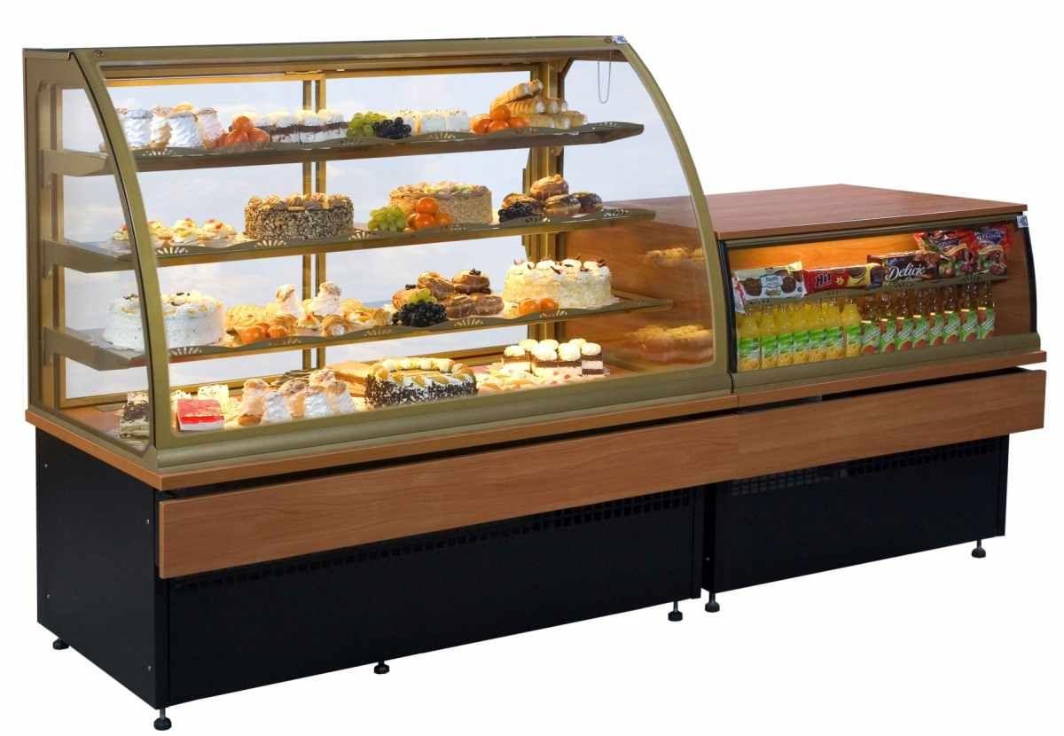 Витрина холодильная для пекарни кондитерской
