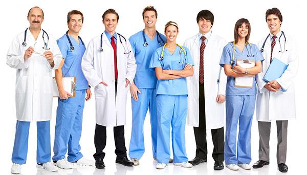 Сотрудники медицинского центра
